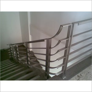 Flat Pipe Stainless Steel Handrail