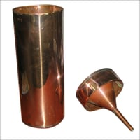 Copper Rain Gauge With Measuring Cylinder