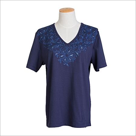 Ladies V Neck T Shirts
