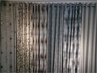 Velvet Curtains Fabric