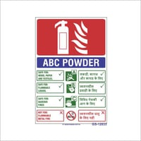 ABC Fire Extinguisher Signs