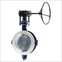 Lined Butterfly Valve Gear Operated