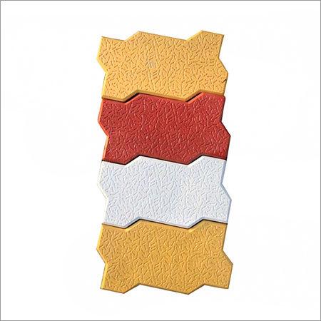 Zig Zag Shape Coloured Pavers