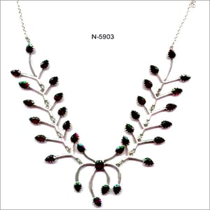 Silver Leaf Trail Necklace