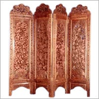 Hand carved Walnut wood Screen