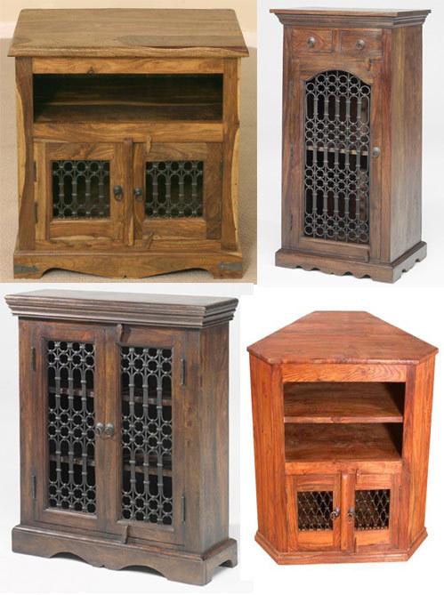 Iron Jali Wooden Side Boards