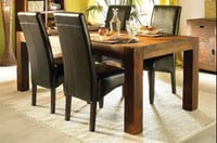 Wooden Leather  Dining Table