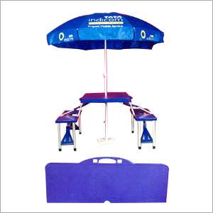 Portable Promotional Table With Umbrella