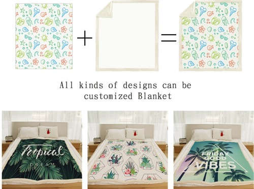 Customized Throw Plush Personalized Blankets