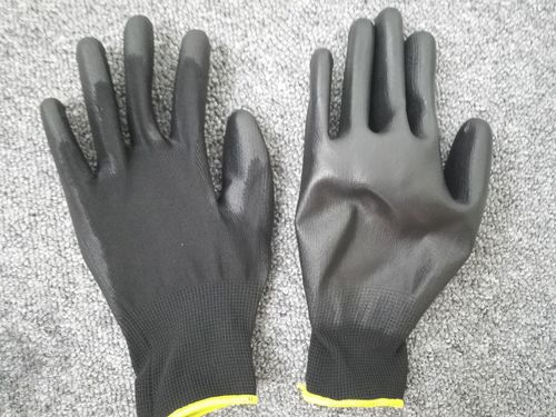 Black PU Palm Gloves