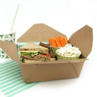 Brown Color Paper Lunch Box