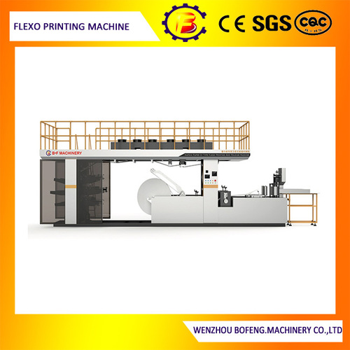 6 Color Napkin Small CI Flexo Printing Machine with Inline Cutting