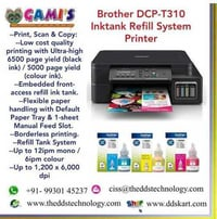 Brother DCP T310 Inktank Refill System Printer