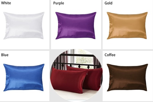 1PC Pure Silk Satin Pillowcase