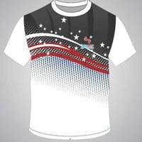 White Colored Sports T Shirt