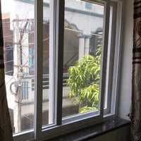 Two Track Upvc Sliding Window