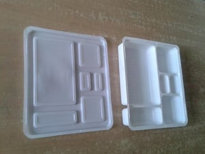 White Color Disposable Lunch Box