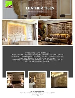 Antique Leather Wall Tiles