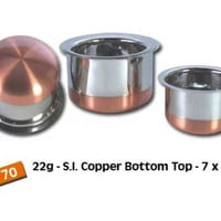 Stainless Steel Copper Bottom Tope