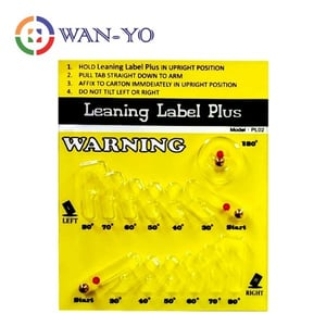 Leaning Label Plus Shipping Indicator Sticker