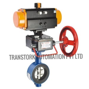 Manual Override for Pneumatic Actuated Butterfly Valve