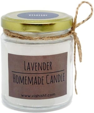 Lavender Scented Homemade Candle