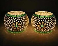 Mosaic T Light Candle Holder