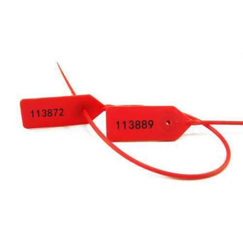 Number Printed Plastic Truck Door Security Seal Tag
