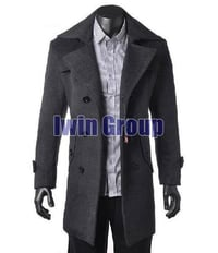 Black Color Velvet Mens Overcoats