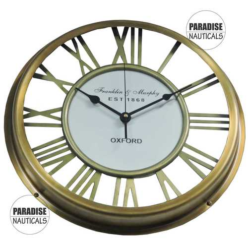 Brass Round Wall Clock