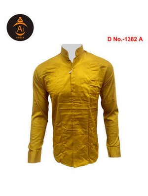 Men's Cotton Shirts With Stand Collar