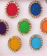 Designer Coloured Round Bindi