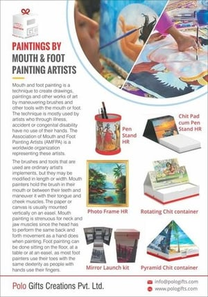 Mouth And Foot Painted Decorative Products