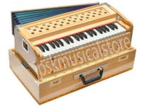 Brown 39 Keys Wooden Music Harmonium