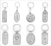 Metal Printed Silver Keychain