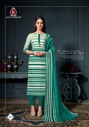 Cambric Print With Button Salwaar Suits