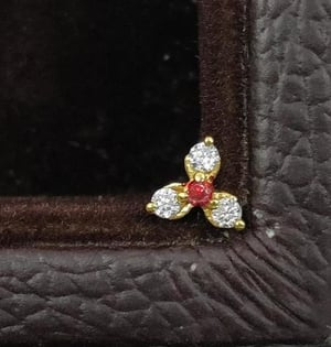 Attractive Gold Nose Pin