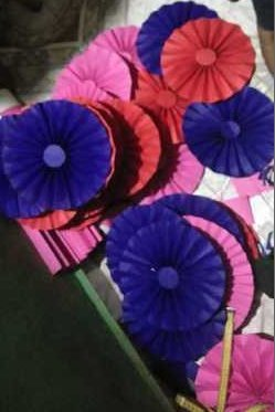 Folding Hand Fan For Decoration