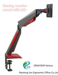 2020 Computer Gaming Monitor Mount Arm Clamp Stand With LED Light