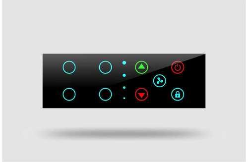 Black Sleek Design Touch Switch