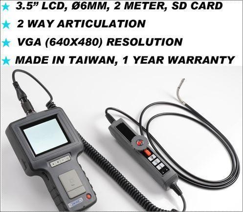 2 Way Articulation 6MM 2M VGA Inspection Borescope