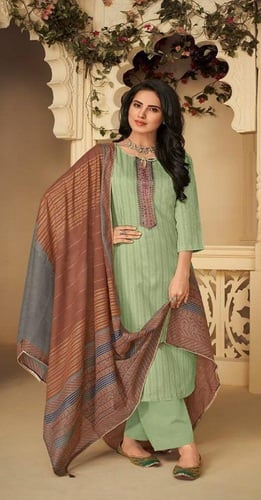 Deepsy Presents Panghat 4 Winter Collection Pure Pashmina With Heavy Self Embroidery Suit