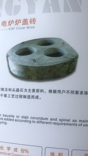 Refractories For Electric Furnace EAF Cover Brick