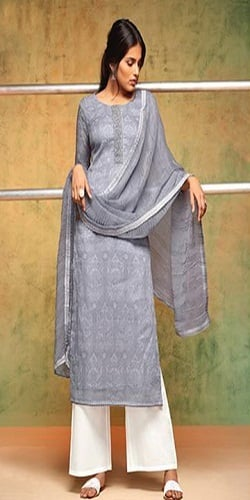 Shringaar Organdy Printed With Embroidery Salwar Suits