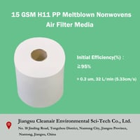 15 Gsm H11 Pp Meltblown Nonwovens Air Filter Media
