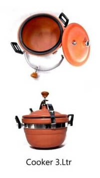 Round Shape Red Clay Cooker