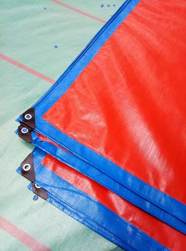 Blue And Red Tarpaulin