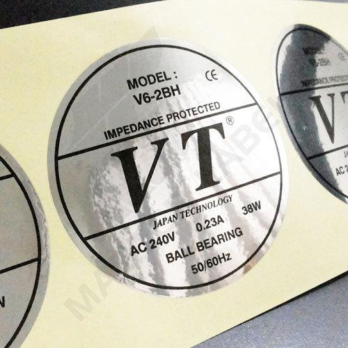 PP Silver Metallic Sticker
