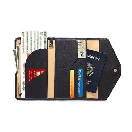 RFID Blocking Travel Passport Wallet