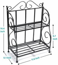 Ascent Homes 2-Tier Foldable Shelf Rack K